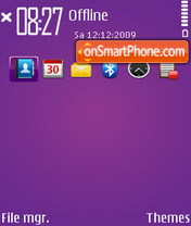 Purple dimple theme screenshot