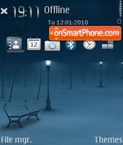 Snow time theme screenshot