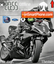 Moto Bike theme screenshot