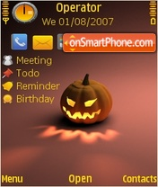 Halloween Gold theme screenshot