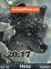 Winter wolf theme screenshot