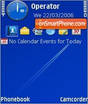 Blue sky theme screenshot