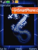 Blue Dragon tema screenshot