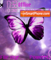 Butterfly Purple 01 theme screenshot