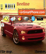 Скриншот темы Mustang