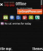 Скриншот темы Carbonara Red V4