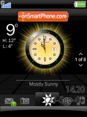 Smart Clock W580 theme screenshot