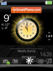 Smart Clock W580 es el tema de pantalla