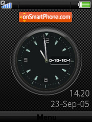 Swf Clock W580 es el tema de pantalla