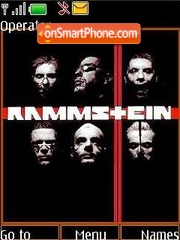 Rammstein theme screenshot