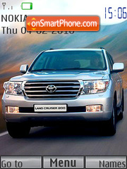 Toyota Land Cruiser 200 theme screenshot