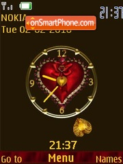 Swf be my valentine theme screenshot