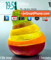Fruits Colors theme screenshot