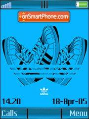 Adidas Blue Shoes theme screenshot