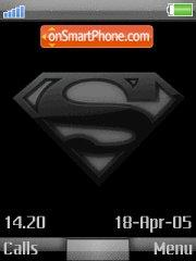 Superman Logo+Mmedia theme screenshot