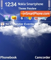 Love Blue 01 theme screenshot