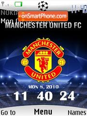 Man Utd Clock theme screenshot