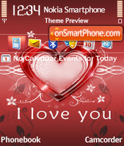 I love you 24 theme screenshot