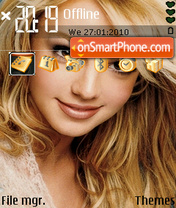 Britney Spears 19 theme screenshot