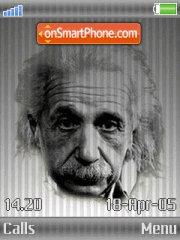 Albert Einstein theme screenshot