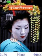 Beautiful geisha theme screenshot