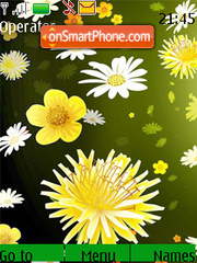 Colourful Flowers theme screenshot