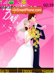 Cartoon Couple Valentine theme screenshot