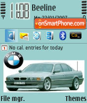 BMW 7 e38 theme screenshot