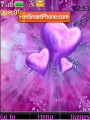 Скриншот темы Flying Purple Hearts