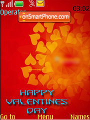 Happy Valentines Day Red tema screenshot