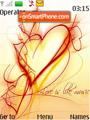 Love Art theme screenshot