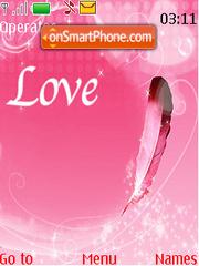 Love Feather tema screenshot