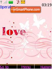 Love Swirls tema screenshot
