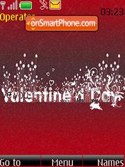 Lovely Valentines Day Swf Clock theme screenshot