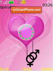 Male Female Heart theme screenshot