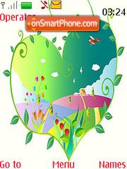 Map in Heart Swf Clock theme screenshot