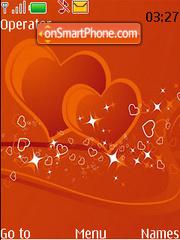 Orange Blinking Hearts theme screenshot