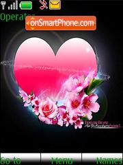 Pink Beautiful Heart Swf Clock theme screenshot