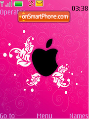 Pink Eaten Apple theme screenshot