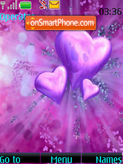 Purple Theme Valentines Day theme screenshot