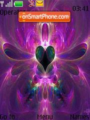 Purple Hearts Swf Clock theme screenshot