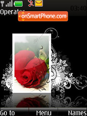 Rose Card Swf Clock theme screenshot
