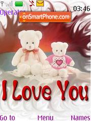 Скриншот темы Teddy Bear Valentines Day