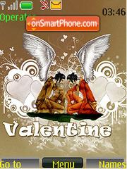 Valentine Angels theme screenshot