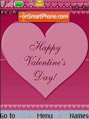 Valentines Day Card Pink theme screenshot