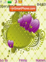 Valentines Day Green Heart Art theme screenshot