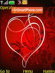Valentines Red Heart Swf Clock Theme-Screenshot