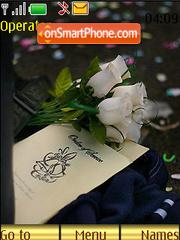 White Roses Swf Clock theme screenshot