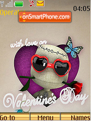 With Love on Valentines Day tema screenshot