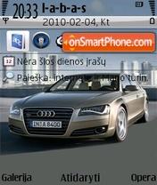 2011 Audi A8 theme screenshot